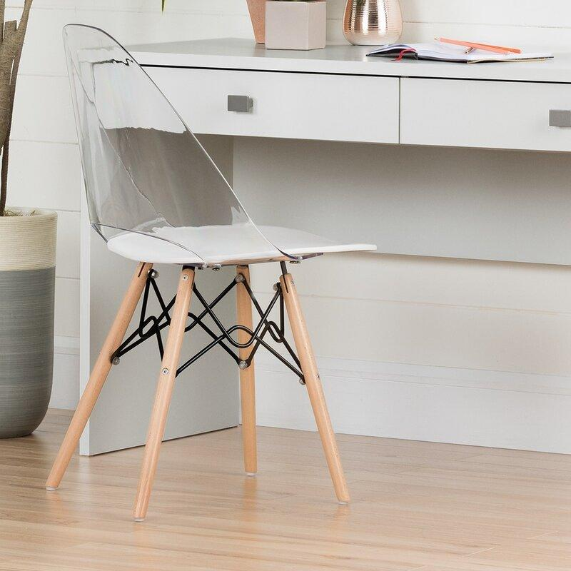 Annexe Side Chair in white.