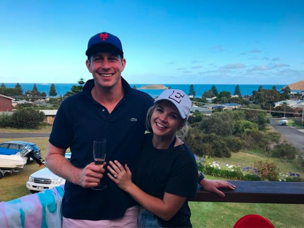 Emma Freedman and Charlie Rundle are engaged. Photo: Instagram