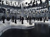 <p>Among those in this reflective room are a 2003 Azzedine Alaïa dress, a 1973 Halston dress with an Elsa Peretti belt, and a 1976 Yves Saint Laurent haute couture ensemble. </p>