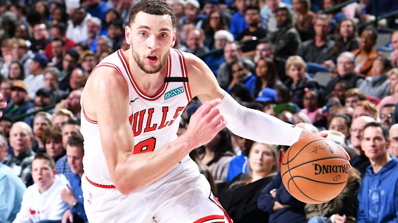 Zach LaVine, pictured playing for the Chicago Bulls, has done a better job of attacking the basket in recent matchups.