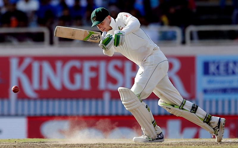 Peter Handscomb also fended off India - Credit: AP