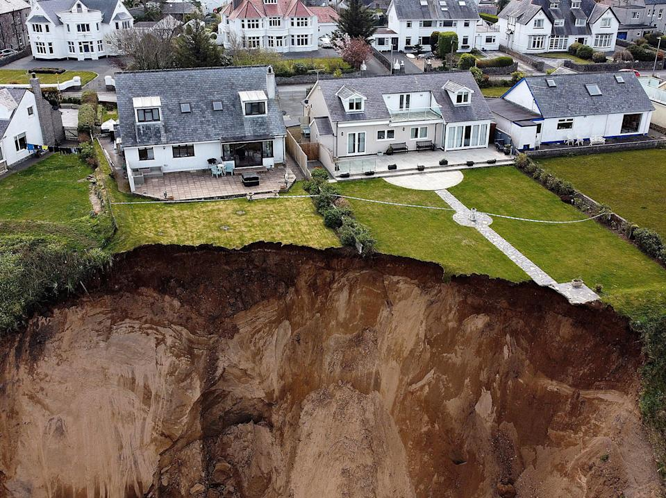 Gwynedd police have warned the public to 'avoid the area until further notice' after Monday's rockfallCarl Recine/Reuters