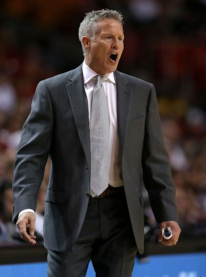Brett Brown could really use a personal day at the spa. (Mike Ehrmann/Getty Images)