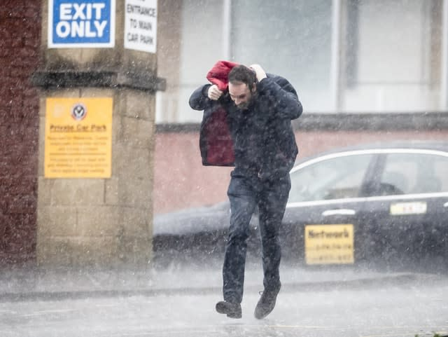 Sheffield United's game against Bournemouth went ahead despite the heavy rain (Danny Lawson/PA)