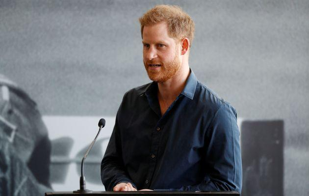 Prince Harry pictured in March 2020 (Photo: PETER NICHOLLS via Getty Images)