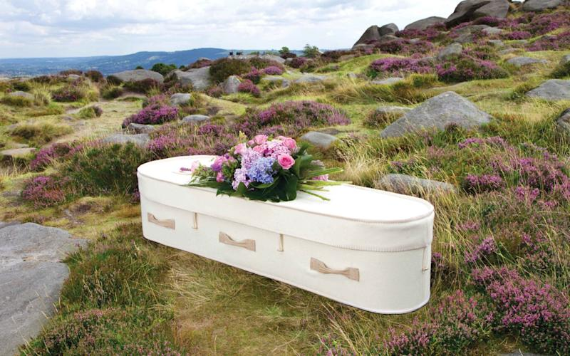 AW Hainsworth's woollen coffin - AW Hainsworth / SWNS.com