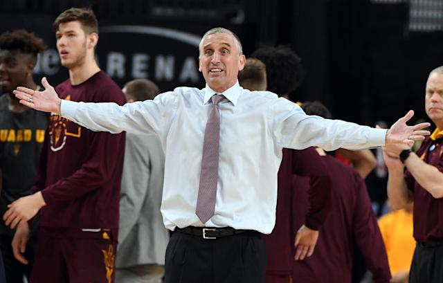 Might Bobby Hurley's Arizona State have effectively been bumped out of the tournament by Danny Hurley's Rhode Island? (Getty)