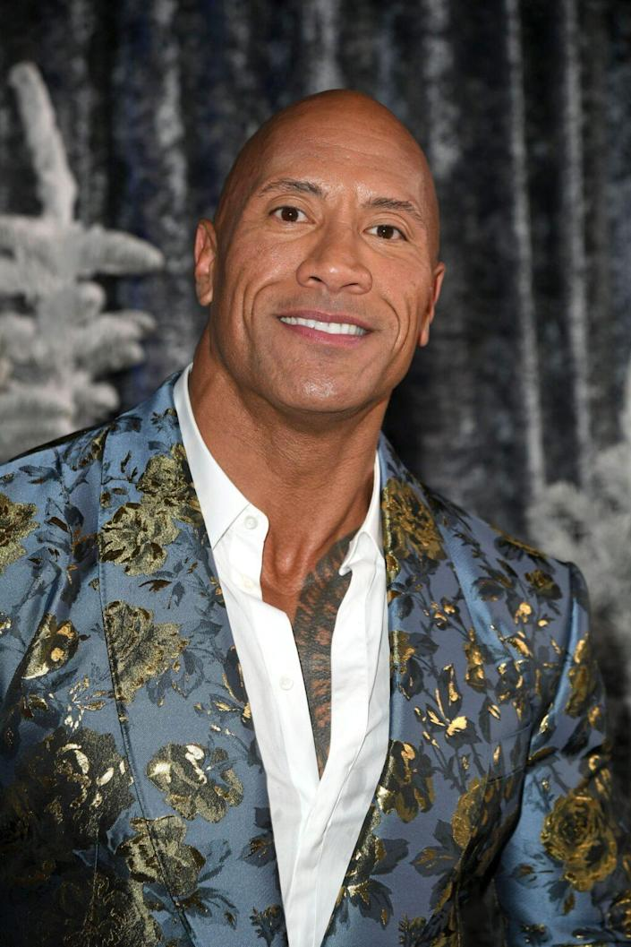 "Dwayne ""The Rock"" Johnson attends the premiere of Sony Pictures' ""Jumanji: The Next Level"" at TCL Chinese Theatre on December 09, 2019 in Hollywood, California. (Photo by Kevin Winter/Getty Images)"
