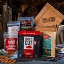 """<p><strong>Man Crates</strong></p><p>mancrates.com</p><p><strong>$79.99</strong></p><p><a href=""""https://go.redirectingat.com?id=74968X1596630&url=https%3A%2F%2Fwww.mancrates.com%2Fstore%2Fproducts%2Fcaveman-crate&sref=https%3A%2F%2Fwww.bestproducts.com%2Flifestyle%2Fg2077%2Fbest-christmas-gifts-ideas-for-men%2F"""" rel=""""nofollow noopener"""" target=""""_blank"""" data-ylk=""""slk:Shop Now"""" class=""""link rapid-noclick-resp"""">Shop Now</a></p><p>The man cave goes prehistoric with this gift box of tasty jerky treats and nuts. Man Crates delivers guy-friendly gift bundles in a cool crate, with a laser-etched crowbar. </p><p>Inside he'll find four types of jerky, along with almonds and cashews to snack on while he chills out. Any meat lover will be excited to break open this crate while enjoying hours of couch-potato behavior.</p>"""