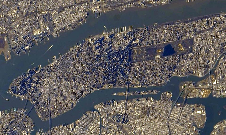 "A new view of New York City captured from the International Space Station show's the city's skyline in incredible detail. NASA astronaut Jessica Meir photographed the city from the orbiting laboratory, which circles the Earth at an altitude of about 250 miles (400 kilometers). ""Clear views of bustling #NYC day and night lately from @Space_Station,"" Meir tweeted on Wednesday (March 4). ""Central Park looks inviting. Midtown's skyline reminds me of a metallic pin art impression."""