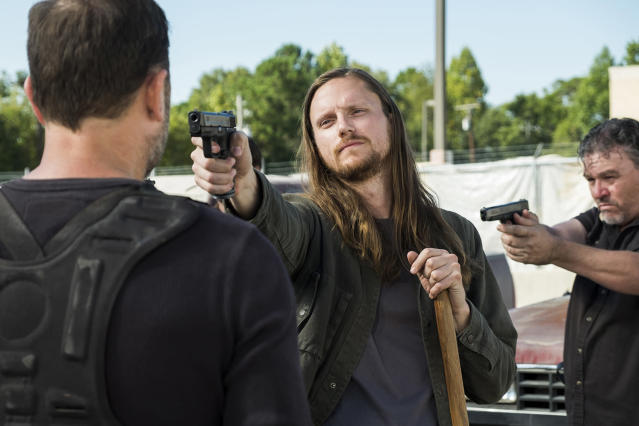 "<p>Benjamin said it best when he referred to Savior Jared as a ""rat-faced prick."" Sadly, that was in the same episode where Jared fatally shot Benjamin, sending Morgan into meltdown mode, and helping convince King Ezekiel to go to war against the Saviors. But Jared's real villainy comes from just how much he clearly delights in tormenting and killing, which he only gets away with because he's a Savior. Also worth noting: his direct supervisor, Gavin, thinks he's a big giant creep, too.<br>(Photo: AMC) </p>"