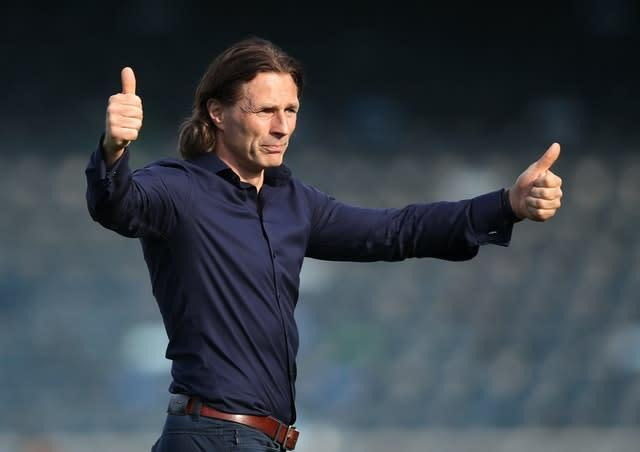 Gareth Ainsworth's Wycombe were eighth in the table but the points-per-game system put them third (Andrew Matthews/PA)