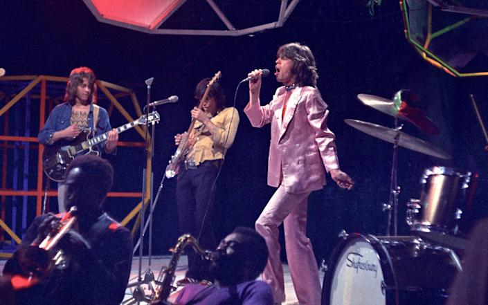 The Rolling Stones performing on Top Of The Pops in 1971 - Redferns
