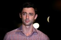 FILE PHOTO: Democratic U.S. Senate candidate Jon Ossoff speaks at a news conference after the election in Savannah