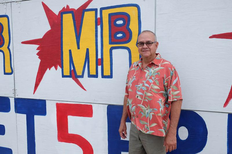 In this June 15, 2017 photo, Tom Bargas, owner of Mr. B Fireworks poses at his fireworks stand in Schulenburg, Texas. Bargas was an informant in a 2006 FBI money laundering investigation of a Texas magistrate, Tommy Tipton, that failed to uncover a lottery jackpot rigging scandal that would go on for years. The FBI inquiry stands out as a missed opportunity to stop the jackpot rigging scandal that corrupted the nation's $70 billion lottery industry while enriching a tiny group of insiders including Tipton and his brother Eddie Tipton. (Andy Behlen/The Fayette County Record via AP)