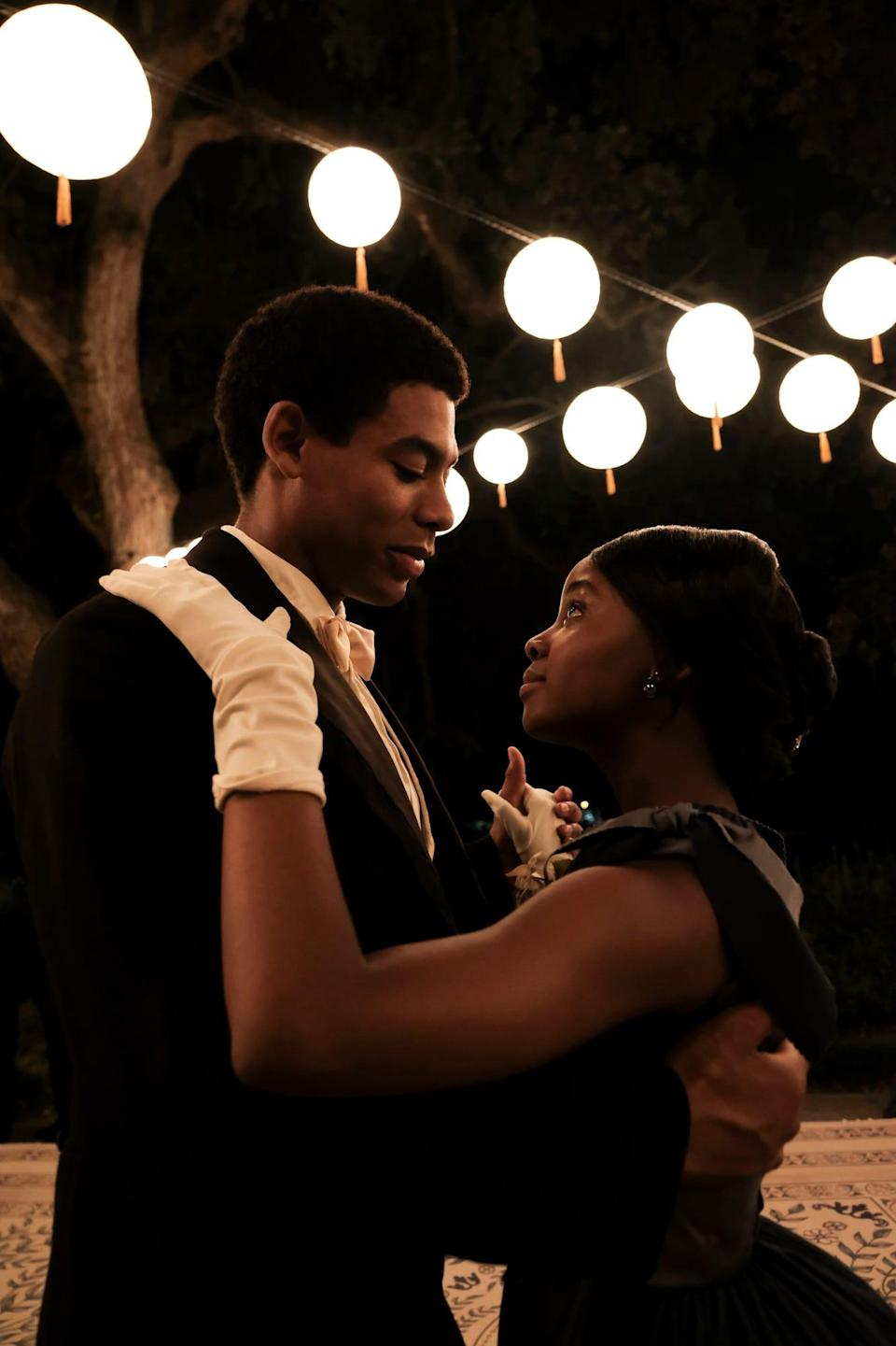 """Aaron Pierre as Caesar and Thuso Mbedu as Cora on """"The Underground Railroad."""""""
