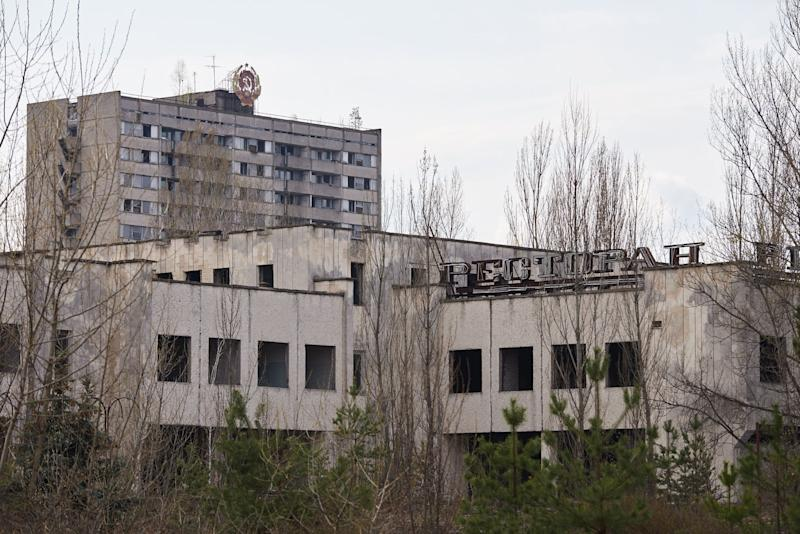 An abandoned restaurant in the Pripyat, near the Chernobyl nuclear power plant in the Exclusion Zone, Ukraine. (Photo: Vitaliy Holovin/Corbis via Getty images)