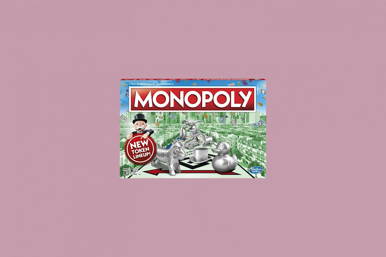"<p>About as classic as it gets, Monopoly is a <a href=""https://www.marthastewart.com/1524278/how-do-family-night-right"">family game night</a> staple—one that works for dinner parties, too, especially if you have a gaggle of kids to keep entertained for an extended period of time.</p> <p><strong><em>Shop Now: </em></strong><em>Monopoly, $15.99, <a href=""http://goto.walmart.com/c/249354/565706/9383?subId1=MSL%2CFunBoardandCardGamesEveryFamilyShouldOwn%2Crhaars%2CLif%2CGal%2C7691762%2C202003%2CI&u=https%3A%2F%2Fwww.walmart.com%2Fip%2FMonopoly-Game%2F55332132"" target=""_blank"" rel=""nofollow"">walmart.com</a>.</em></p>"