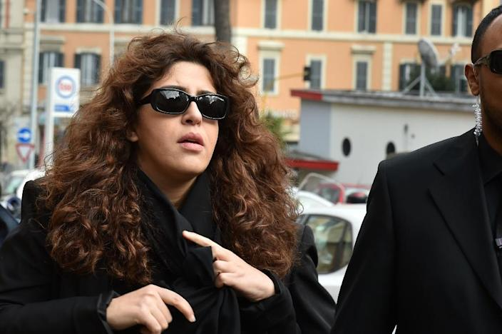 """Francesca Chaouqui, a PR expert accused of leaking classified documents to journalists arrives on March 14, 2016 at the Vatican for the """"Vatileaks"""" trial of two journalists and three former Vatican officials (AFP Photo/Alberto Pizzoli)"""