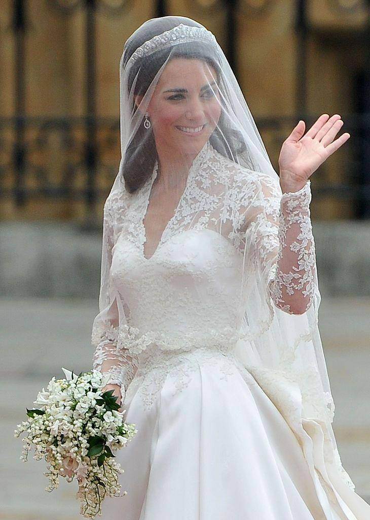 <p>Despite looking simple in contrast to many bride's wedding bouquets, the flowers included in Kate's wedding day bunch were all chosen for a particular reason.</p><p>According to the royal family's website, the bouquet - assembled by florist Shane Connelly - featured myrtle, lily-of-the-valley, sweet William, ivy and hyacinth. </p><p>Myrtle is the emblem of marriage and love which can be traced back to Queen Victoria, her eldest daughter was the first royal bride to use it in her bouquet as a symbol of bridal 'innocence'.</p><p>Lily of the valley is supposed to symbolise happiness, hyacinth - the constancy of love, ivy is a symbol of fidelity, marriage, friendship and affection and we're interpreting that Sweet William was a nod to her beau.</p><p>The bridesmaids carried mini replicas of the bride's bouquet. </p>