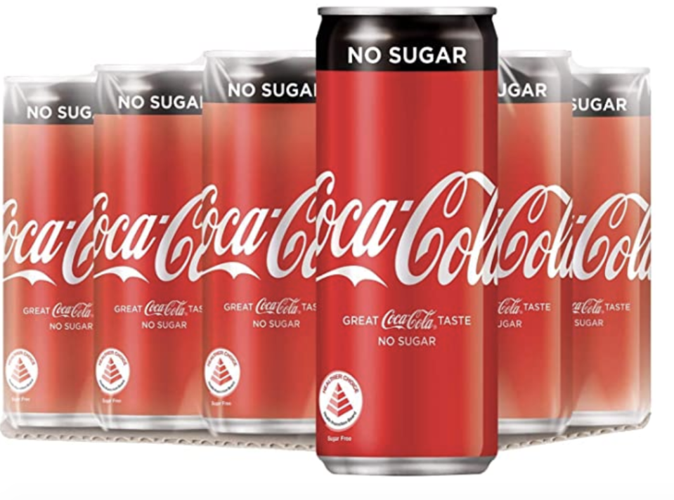 Coca-Cola No Sugar, 320ml. (PHOTO: Amazon)