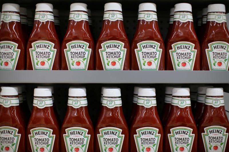 FILE PHOTO: Heinz tomato Ketchup is show on display during a preview of a new Walmart Super Center prior to its opening in Compton, California