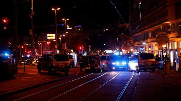 PHOTO: Police blocks a street near Schwedenplatz square after a shooting in Vienna, Nov. 2, 2020. (Leonhard Foeger/Reuters)