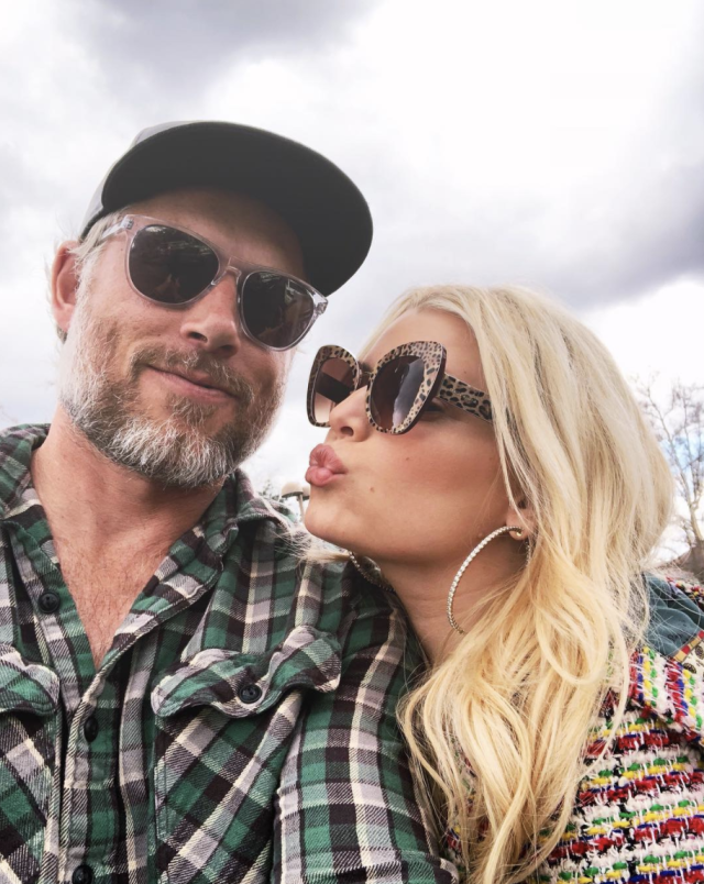 "<p>It was a kissy-face kind of day for the mom of two and her hubby, Eric Johnson. ""#HappyValentinesDay,"" she captioned this one. (Photo: <a href=""https://www.instagram.com/p/BfM9WxbApXC/?taken-by=jessicasimpson"" rel=""nofollow noopener"" target=""_blank"" data-ylk=""slk:Jessica Simpson via Instagram"" class=""link rapid-noclick-resp"">Jessica Simpson via Instagram</a>) </p>"