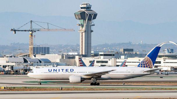 PHOTO:United Airlines Boeing 777 takes off from Los Angeles international Airport in Los Angeles, August 27, 2020. (AaronP/Bauer-Griffin/GC Images via Getty Images)