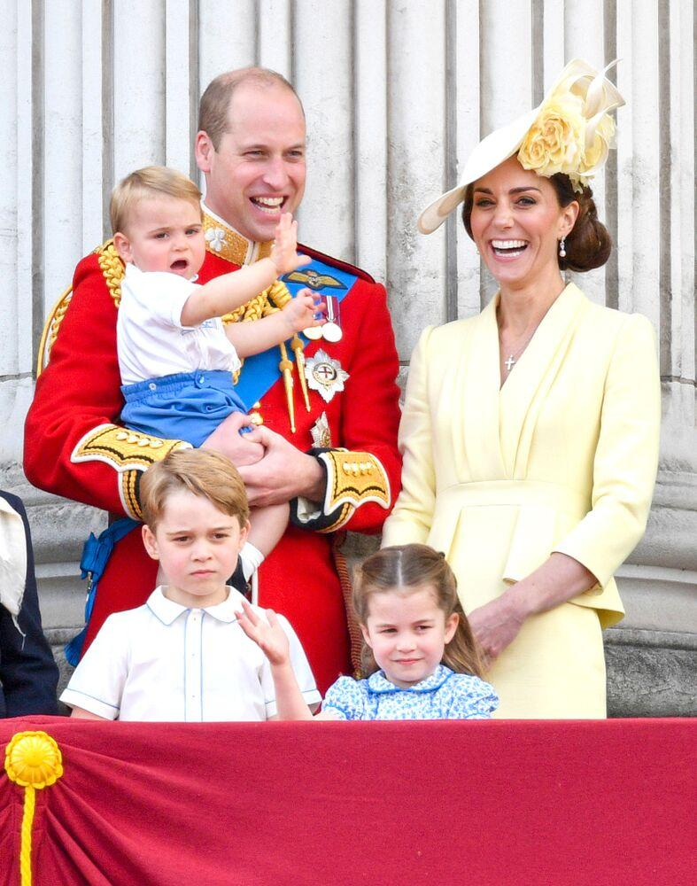 Prince Louis, Prince William, Kate Middleton, Prince George and Princess Charlotte | Tim Rooke/Shutterstock