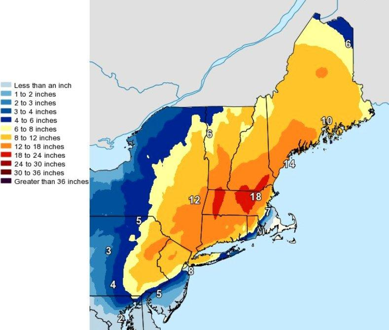 Strong nor'easter will hit ME  hard overnight