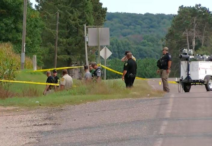 Four people found slain in an abandoned SUV in a western Wisconsin cornfield over the weekend had been shot and were all from Minnesota, authorities said. / Credit: CBS Minnesota
