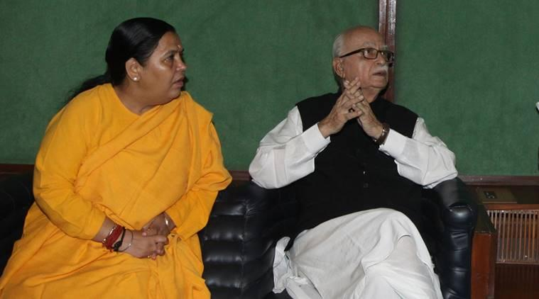 Only L K Advani can answer: Uma Bharti on BJP's decision not to field him in 2019 polls