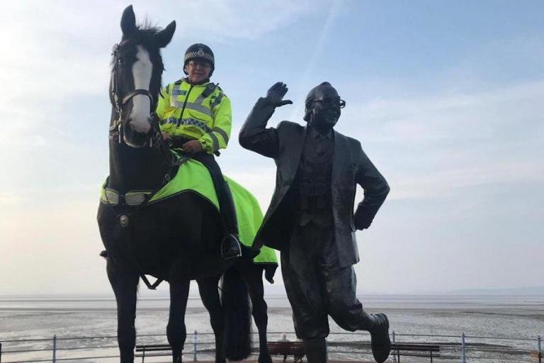 Police horse dies after being impaled by metal pole following Blackpool v Fleetwood game