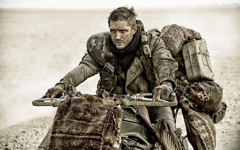 Road fury: Mad Max star Tom Hardy reportedly sprinted after a thief and searched him for weapons before declaring, 'I caught the c---!' - AP