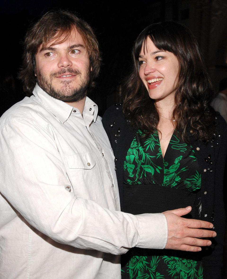 """<p>Jack Black and his wife Tanya Haden first met in high school and later eloped in Big Sur, California in 2006. The notoriously private couple haven't divulged any major details about their big day, but the bride's father shared with <em><a href=""""https://people.com/celebrity/jack-black-elopes-with-tanya-haden/"""" rel=""""nofollow noopener"""" target=""""_blank"""" data-ylk=""""slk:PEOPLE"""" class=""""link rapid-noclick-resp"""">PEOPLE</a> </em>that, """"They love each other very much. We're thrilled."""" </p>"""
