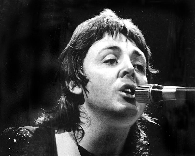 Paul McCartney and Wings in concert at Madison Square Garden.