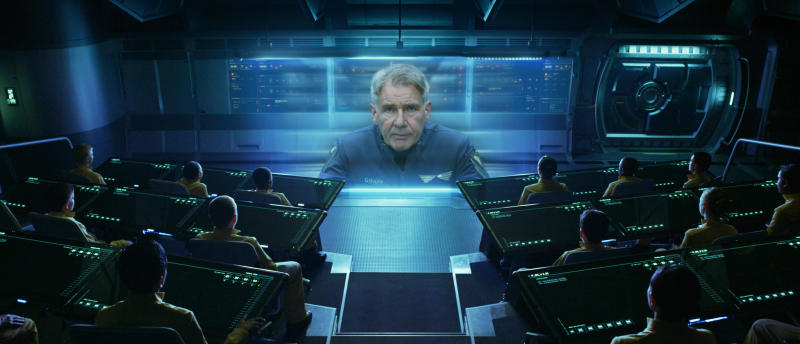 "This publicity photo released by courtesy Summit Entertainment shows Harrison Ford in a scene from the film, ""Ender's Game."" (AP Photo/ Summit Entertainment, Richard Foreman Jr., SMPSP)"