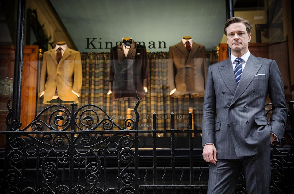 """<p>Colin Firth and Taron Egerton star in <em>Kingsman: The Secret Service</em>, the first in the franchise about a top-secret spy organization that recruits a promising kid (Egerton) into its training program while battling an emerging threat. The action-comedy sets up its sequels that follow the organization's global missions.</p> <p><a href=""""https://www.amazon.com/Kingsman-Secret-Service-Colin-Firth/dp/B00TJYY1HQ"""" rel=""""nofollow noopener"""" target=""""_blank"""" data-ylk=""""slk:Available to rent on Amazon Prime Video"""" class=""""link rapid-noclick-resp""""><em>Available to rent on Amazon Prime Video</em></a></p>"""