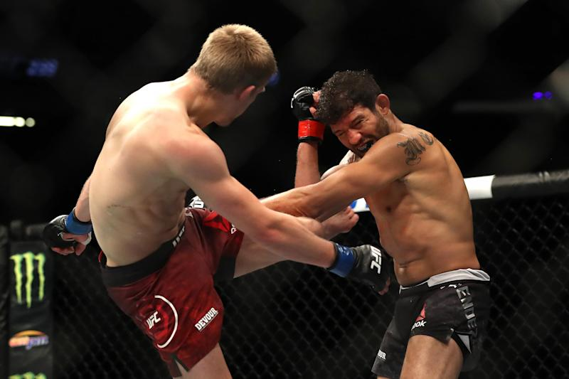 Allen coming off the back of a career best win over Melendez. (Getty Images)