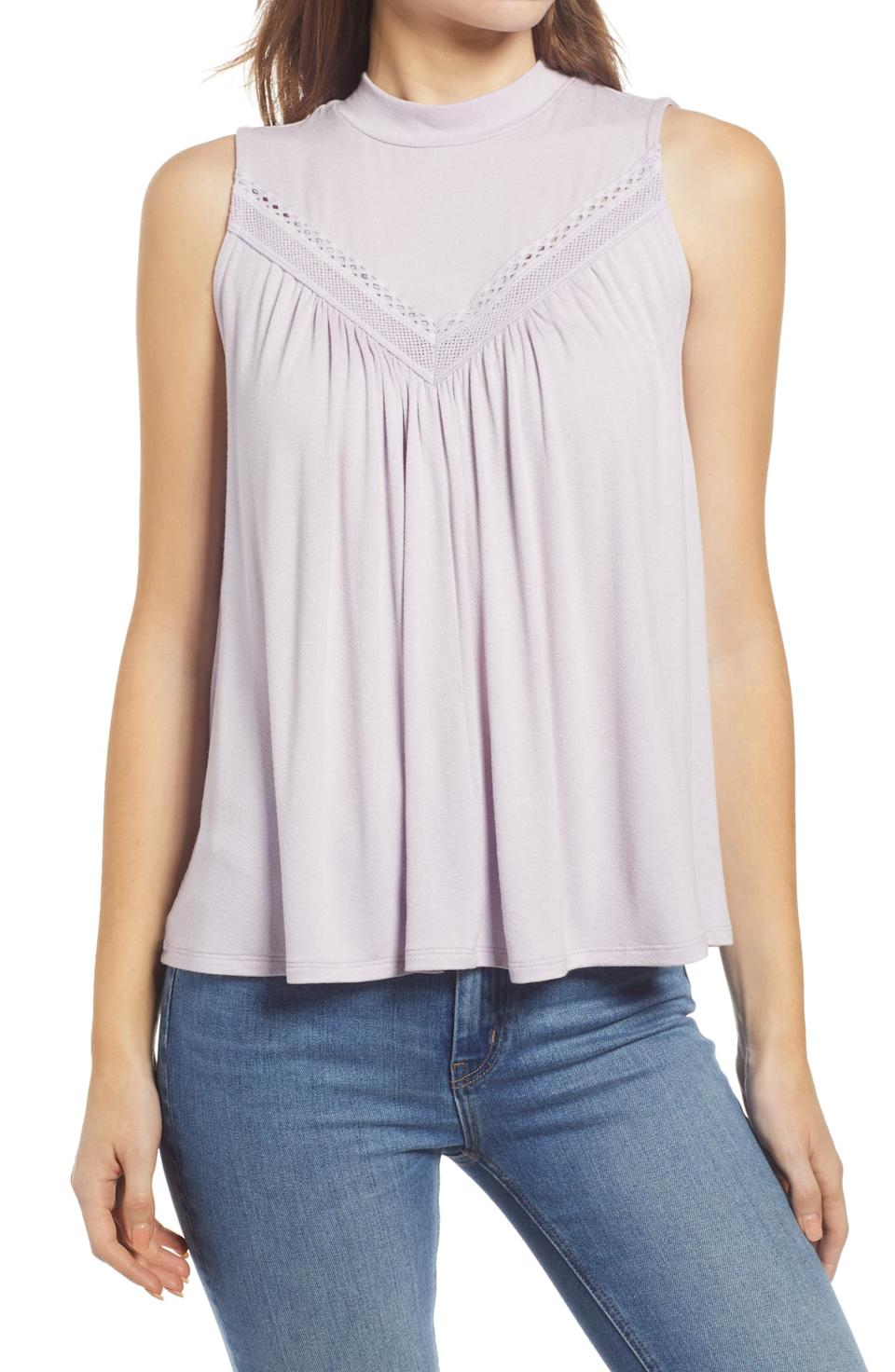 Everleigh Lace Knit Tank. Image via Nordstrom.