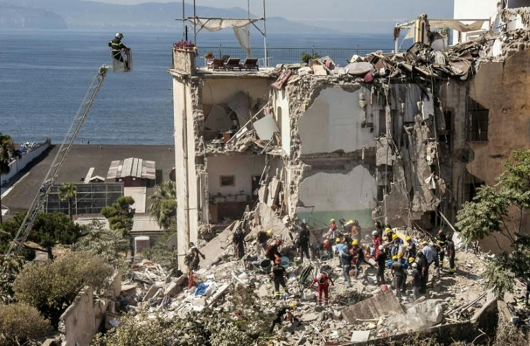 Italy apartment block collapses near Naples, eight people missing