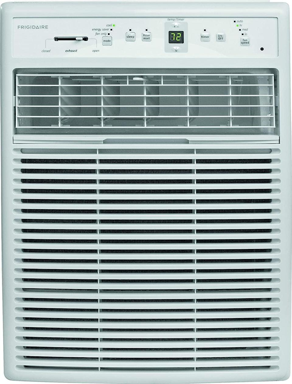 <p>This little <span>Frigidaire FFRS1022R1 10000 BTU Slider/Casement Room Window Air Conditioner</span> ($700) packs a punch. With six different settings and the capacity to cool up to 450 square feet, this unit is the real, heavy-duty deal. </p>