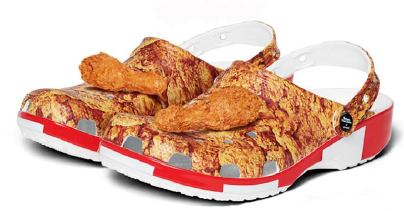 KFC have teamed up with Crocs to launch a limited edition air of the cult clogs (PA)