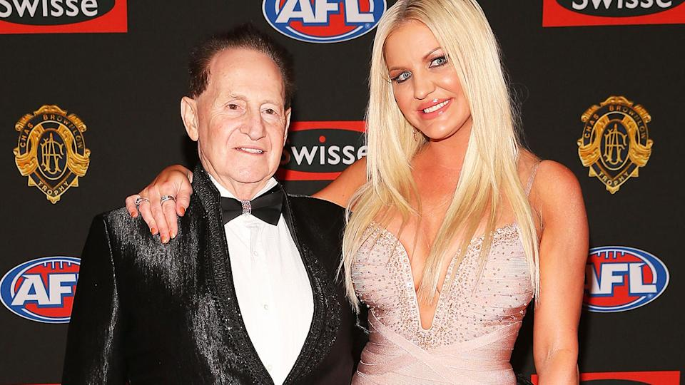 Geoffrey and Brynne Edelsten, pictured here at the 2013 Brownlow Medal.