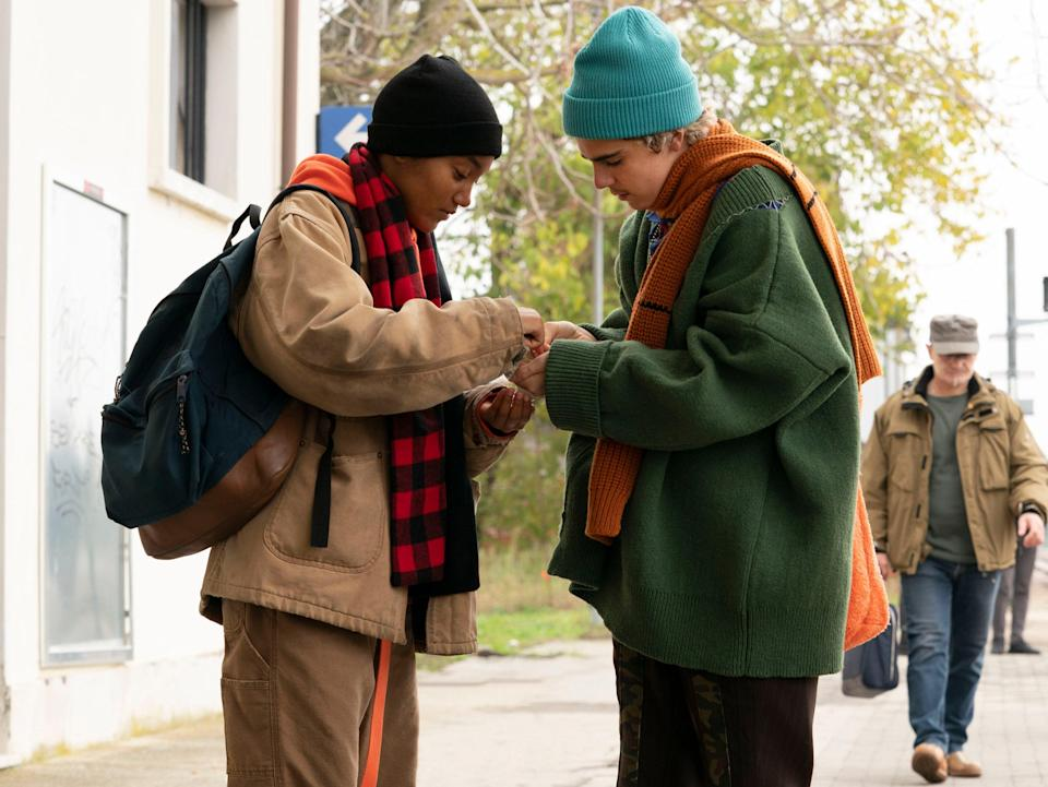 <p>Jordan Kristine Seamon and Jack Dylan Grazer in 'We Are Who We Are'</p> (BBC/Fremantle)