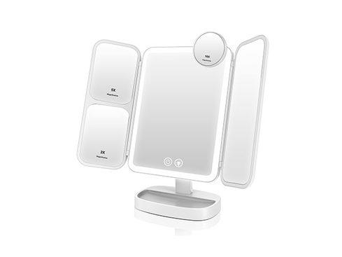 The real key to perfect makeup is excellent lighting, and a light-up mirror like the Easehold Portable Mirror is the trick you've been missing. (Photo: Yahoo Lifestyle Store)