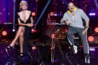 <p>Heidi Klum and Thierry Mugler get ready to film the upcoming season of<em> Germany's Next Topmodel</em> in Berlin on Wednesday.</p>