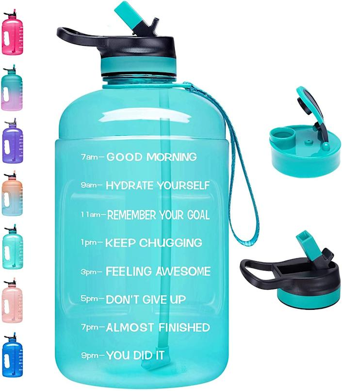 <p>Make this <span>Venture Pal Large Gallon Motivational Water Bottle</span> ($22) your new daily companion on morning walks, hikes or runs.</p>