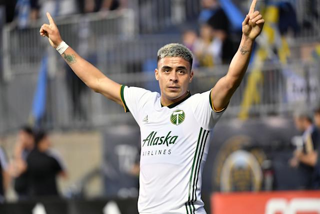 Brian Fernandez was signed in May for the highest transfer fee in Timbers history. The Argentine striker has scored three goals in just 115 minutes of action so far. (Eric Hartline-USA Today)